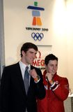 Michael Phelps and Alexandre Bilodeau Stock Images