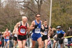 Michael Platt (1159) races up Heartbreak Hill Royalty Free Stock Photography