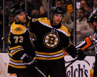 Michael Ryder and Daniel Paille, Boston Bruins Royalty Free Stock Photo