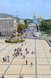 Michaels Cathedral and Bogdan Khmelnitsky monument, Kiev, Royalty Free Stock Photos