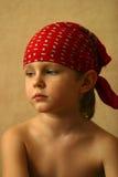 Michael's portrait. Portrait of the small sad boy stock image