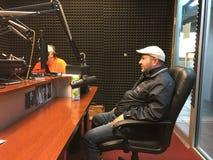 Michael Salita On Russian Radio Lizenzfreies Stockbild