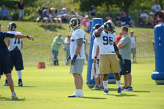 Michael Sam During Rams Practice Royaltyfri Bild