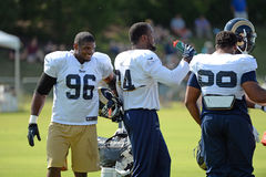 Michael Sam With Team Mates During Rams Practice Stock Photography
