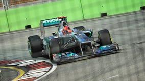 Michael Schumacher at 2011 Singapore F1 Stock Images