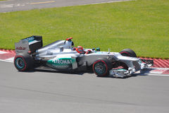 Michael Schumacher in 2012 F1 Canadian Grand Prix. June 10, 2012 - Michael Schumacher of Mercedes AMG Petronas F1 Team in 2012 Formula 1 Canadian Grand Prix in Royalty Free Stock Image