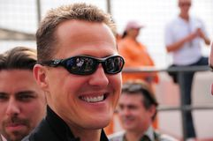 Michael Schumacher. In Dubai, Jan.08 Stock Photography