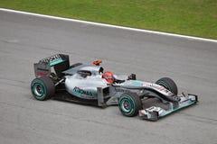 Michael Schumacher bij Maleise F1 Royalty-vrije Stock Fotografie