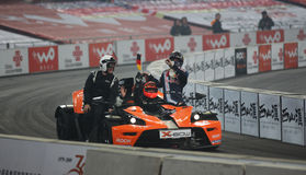 Michael Schumacher en Sebastian Vettel Stock Afbeeldingen