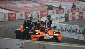 Michael Schumacher et Sebastian Vettel Images stock