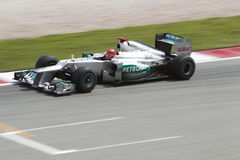 Michael Schumacher exits turn 15 Royalty Free Stock Photography