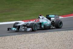 Michael Schumacher (GER) in Mercedes GP in Duitsland Stock Foto's
