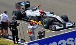 Michael Schumacher in GP Mercedes Stock Foto