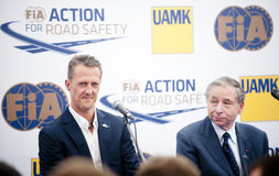 Michael Schumacher and Jean Todt Royalty Free Stock Image