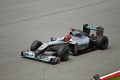 Michael Schumacher am malaysischen Rennen der Formel 1 Stockfoto