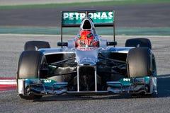 Michael Schumacher (Mercedes) Stock Images