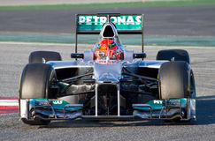Michael Schumacher racing Royalty Free Stock Photography