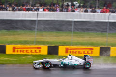 Michael Schumacher racing at Montreal Grand prix Royalty Free Stock Images