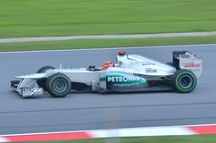 Michael Schumacher, squadra Mercedes Fotografia Stock Libera da Diritti