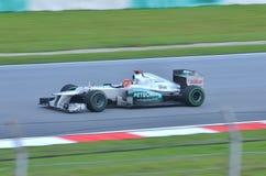 Michael Schumacher, squadra Mercedes Fotografia Stock