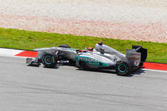 Michael Schumacher (team Mercedes) Royalty Free Stock Image