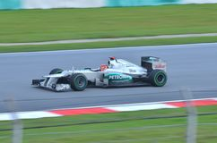 Michael Schumacher, team Mercedes Stock Foto