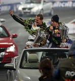 Michael Schumacher und Sebastian Vettel Stockfotos