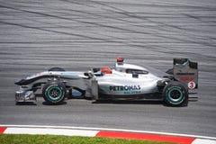 Michael Schumacher van GP Team van Petronas Mercedes Stock Foto's