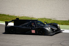 Sports prototype car test on a racing circuit Royalty Free Stock Image
