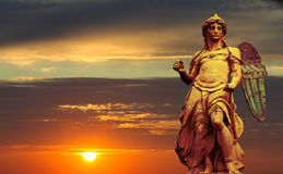 michael st statua Zdjęcie Stock