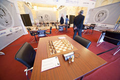 Michael Talja's fifth chess memorial starts Stock Images