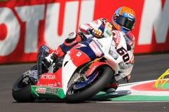 Michael van der Mark - het Team van de Wereldsuperbike van NED Honda CBR1000RR SP Honda Royalty-vrije Stock Afbeelding