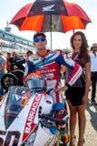 Michael Van Der Mark-Pilot von Superbikes SBK lizenzfreie stockfotos