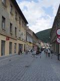 Michael Weiss street in Brasov, Romania royalty free stock photo