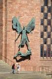 Michael y el diablo, Coventry imagenes de archivo