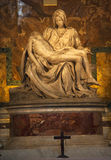 Michaelangelo Pieta Sculpture Vatican Rome Italy. Michaelangelo Pieta Sculpture Cross Crucifix Vatican Inside Rome Italy Royalty Free Stock Photos