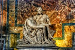 Michaelangelo Pieta Sculpture Vatican Rome Italy. Michaelangelo Pieta Sculpture Vatican Inside Royalty Free Stock Photos