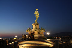 Michaelangelo's David. David statue by Michaelangelo in Florence Stock Photo