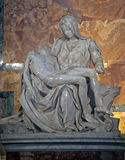 Michaelangelo`s the Pieta. Michaelangelo`s sculpture located in St. Peter`s Basilica, Rome, Italy Royalty Free Stock Photos