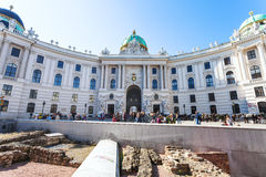 Michaelerplatz的,维也纳Vindobona解决 免版税库存照片