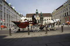 Michaelerplatz_carriage Στοκ φωτογραφία με δικαίωμα ελεύθερης χρήσης