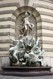 Michaelerplatz Fountain in Hofburg Quarter Stock Photography