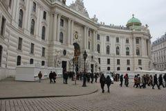 Michaelerplatz kwadrat w Wiedeń Fotografia Stock