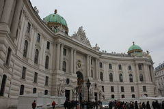 Michaelerplatz square in Vienna at day time Royalty Free Stock Photo