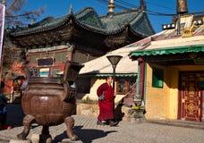 Michaelita Gandantegchinlen monaster w Ulaanbaatar obrazy royalty free