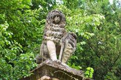 Michaelita kamienna statua Grazzano Visconti Obrazy Royalty Free