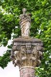 Michaelita kamienna statua Grazzano Visconti obrazy stock