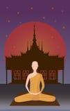 Michaelita medytacja przed świątynią Obraz Royalty Free