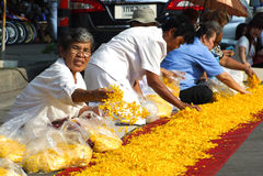 1.000 michaelita od Wata Phra Dhammakaya Fotografia Royalty Free
