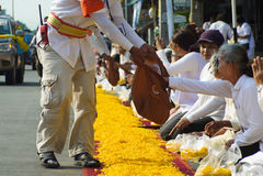 1.000 michaelita od Wata Phra Dhammakaya Fotografia Stock
